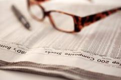 综合报纸发生股票 免版税库存照片
