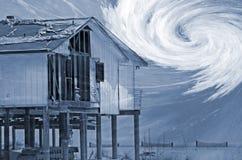 综合损坏的房子风暴 图库摄影