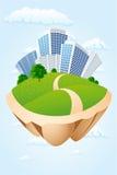 绿化海岛 免版税库存图片
