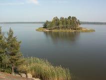 绿化海岛 库存图片