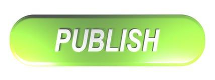 绿化被环绕的长方形按钮出版- 3D翻译 库存例证