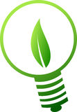 绿化闪亮指示符号 免版税库存照片