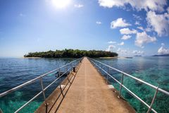 绿岛乡跳船,昆士兰澳大利亚 免版税库存图片