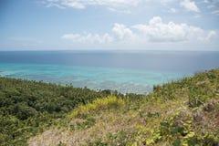 绿松石太平洋和珊瑚礁 免版税库存照片