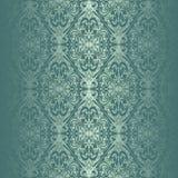 绿松石无缝的墙纸。 库存照片