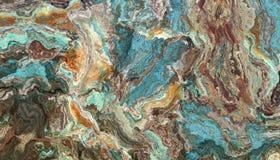绿松石未加工的宝石纹理 免版税图库摄影