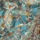 绿松石未加工的宝石 免版税库存照片