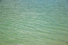 绿松石海洋或湖水波背景  免版税库存图片