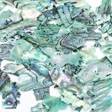 绿松石自然宝石珍珠层贝壳特写镜头,宝石美好的纹理  库存照片