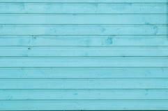 绿松石颜色木墙壁  免版税库存图片