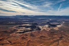 绿河乐队俯视- Canyonlands 库存图片