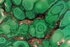 绿沸铜矿物纹理 免版税库存图片