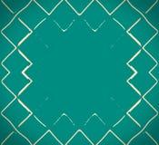 绿浪的马赛克波浪 库存照片