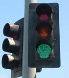 绿灯杆 图库摄影