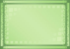 绿灯正方形 库存图片