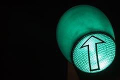 绿灯红色业务量黄色 机场箭头绿灯符号 免版税图库摄影