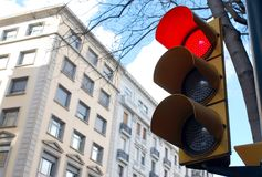 绿灯红色业务量黄色 免版税库存照片
