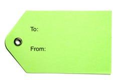 绿皮书标签 免版税图库摄影