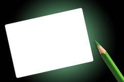 绿皮书铅笔 库存照片