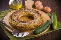 绿皮胡瓜果馅饼。 免版税图库摄影