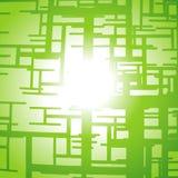 绿线向量 库存例证