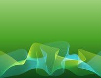 绿线字符串通知 免版税库存图片