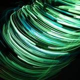绿线打旋 免版税库存照片