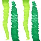 绿线标志 垂直的之字形毡尖笔 免版税库存图片