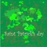 绿色三叶草背景为圣帕特里克天 向量例证