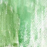 绿色不同的树荫水彩纹理的例证  水彩抽象背景,污点,迷离,积土,印刷品,浪花 库存图片