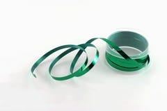 绿色丝带短管轴 图库摄影