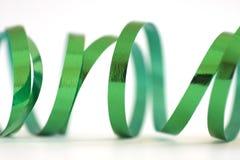 绿色丝带 免版税库存照片