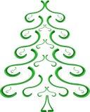 绿色云杉的结构树 库存图片