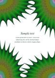 绿色五颜六色的页角落设计模板 图库摄影