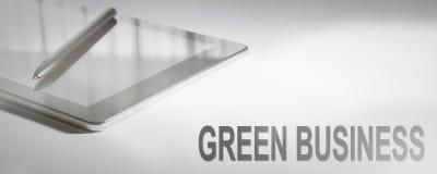 绿色企业企业概念数字技术 免版税库存照片