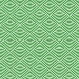 绿色传染媒介弯曲的波动图式 皇族释放例证