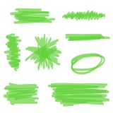 绿色传染媒介轮廓色_ 库存例证