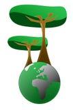 绿色例证世界 免版税图库摄影