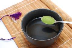绿色健康生活方式茶 库存照片
