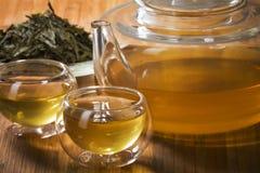 绿色健康茶 免版税库存照片