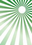 绿色光芒 免版税库存照片