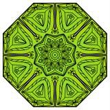 绿色八针对性的坛场 免版税库存照片