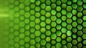 绿色六角形样式摘要3D翻译 库存例证