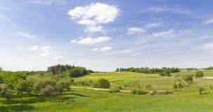绿色农村夏天全景横向 免版税图库摄影