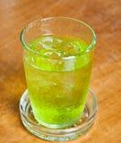 绿色冰了茶 免版税图库摄影