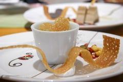 绿色冷甜点茶 免版税库存照片