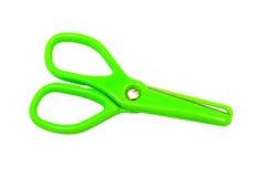 绿色剪刀 免版税库存照片
