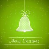 绿色加点的圣诞节铃声框架 库存例证