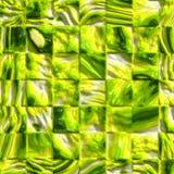 绿色发光的瓦片 免版税库存照片
