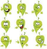 绿色叶子动画片 库存图片